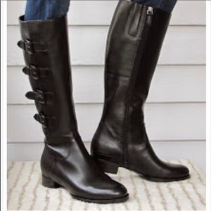 Ecco black Sullivan leather riding boots